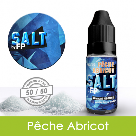 Eliquide sels de nicotine Pêche abricot Salt by FP : 5,31€
