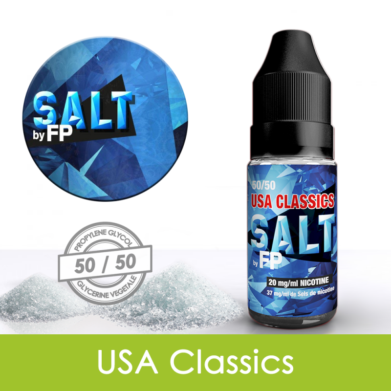 Eliquide sels de nicotine USA classics Salt by FP : 5,31€