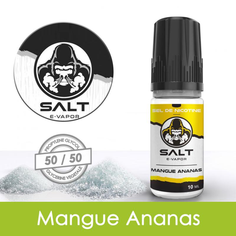 Eliquide sels de nicotine Mangue Ananas Salt E-Vapor : 6,21€