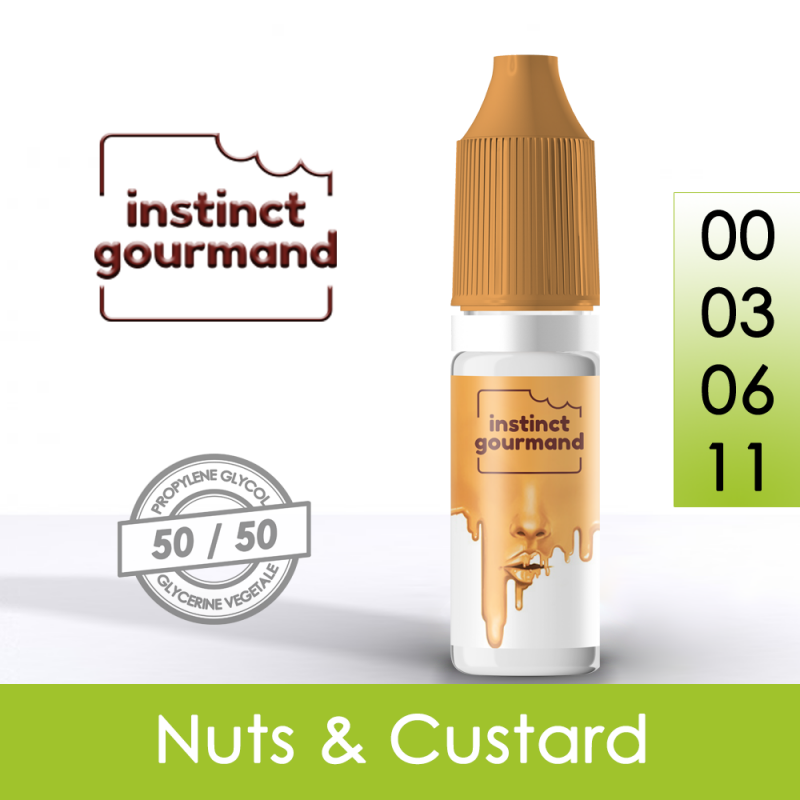 Eliquide Nuts & Custard - Instinct Gourmand