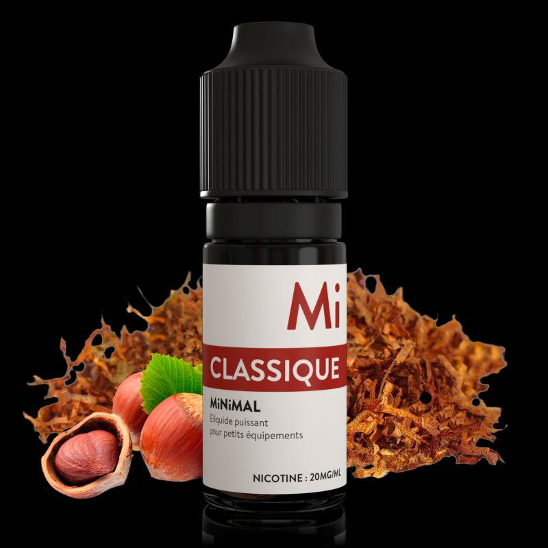 Eliquide sels de nicotine Classique Minimal : 6,21€