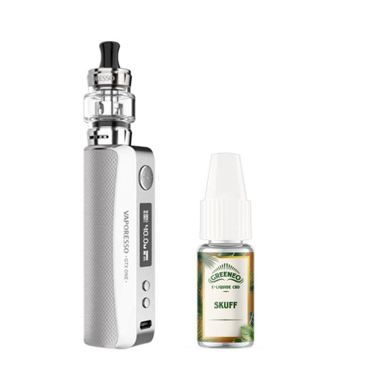 Eliquide Pack GTX One + E-Liquide CBD Vaporesso
