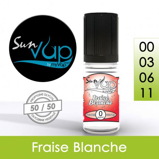 Eliquide Fraise Blanche - Sunvap