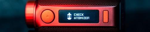 No atomizer - Atomizer Short - Check Atomizer